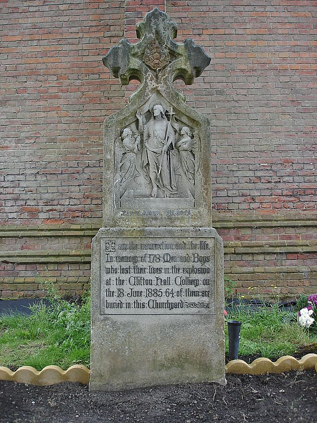 Clifton Hall Colliery disaster memorial at St Augustines Church